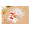 2017 New Design Santa Claus Decoration Banquet Cellophane Bags with Self-adhesive