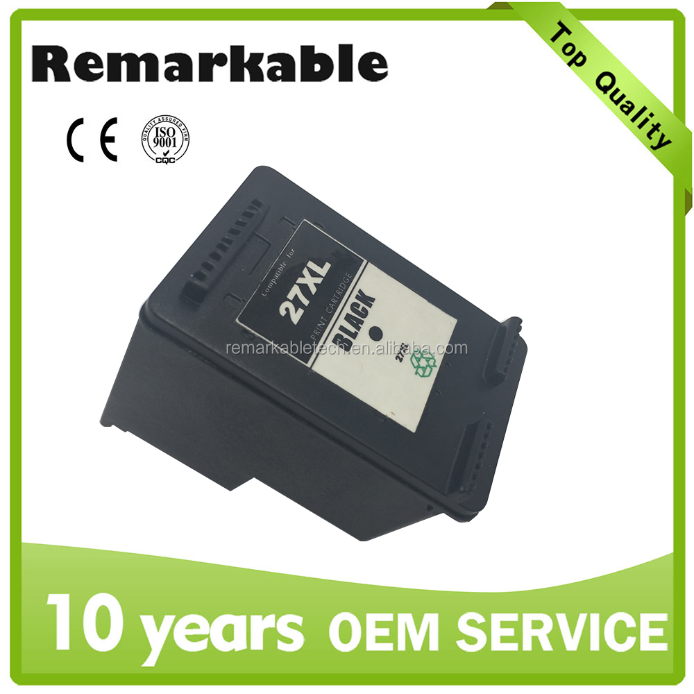 officejet cartridge chip reset ink cartridge for HP 27 remanufactured printer