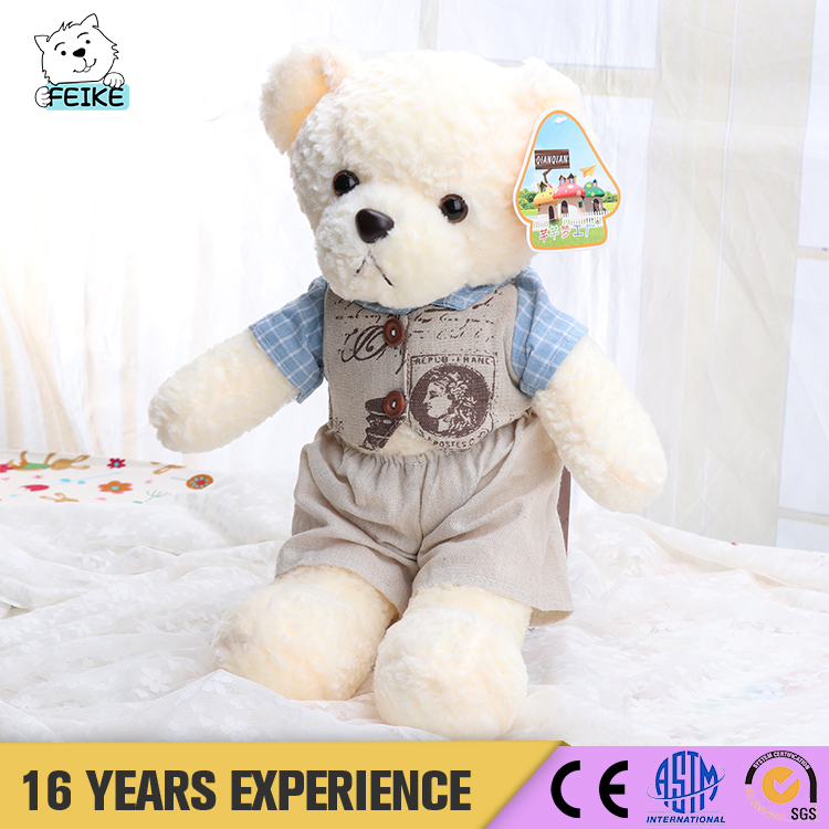 New Popular Wholesale PP Cotton Plush Toy Bear From China Famous Supplier