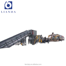 Waste plastic pet bottle crushing drying recycling washing production line
