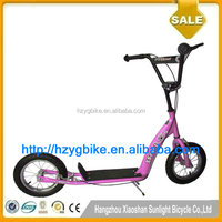 2016 12 Inch Latest fashionable two air wheel kick scooter