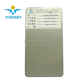 UV resistance pure polyester metallic grey powder coating paint for furniture
