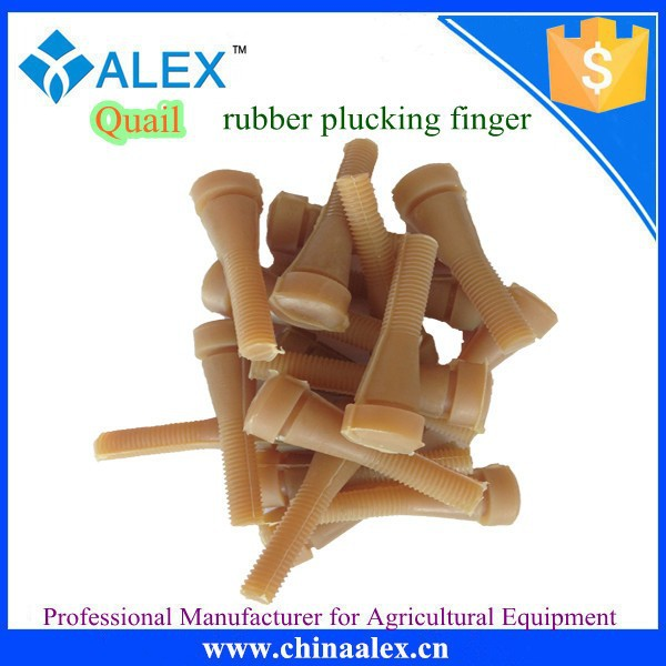 High quality spare parts for quail plucker machine rubber plucker finger