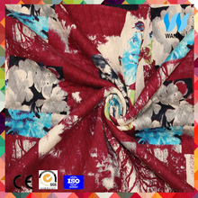 China flower digital printing custom cotton printed fabirc