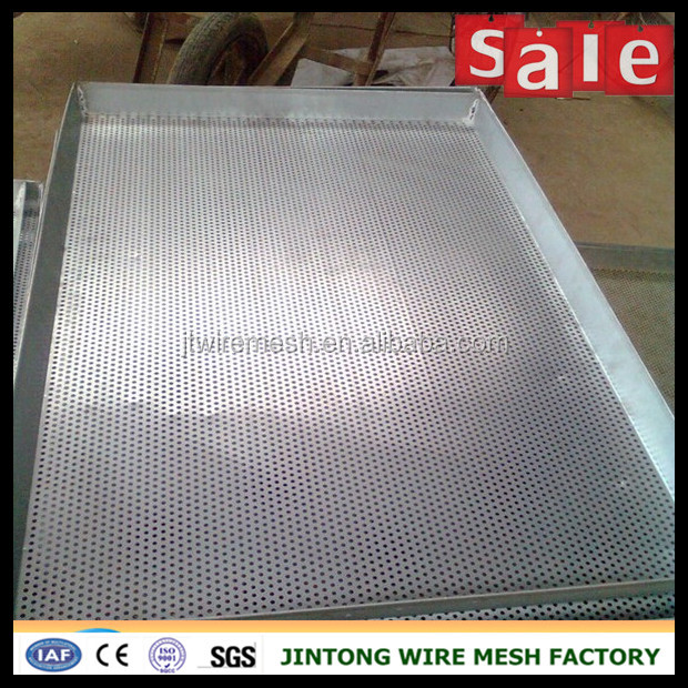 cheap metal sheet perforated tray price