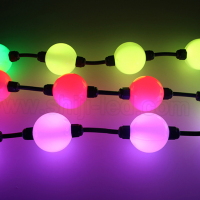 Intelligent 3D dmx string led magic ball light for Christmas tree decoration