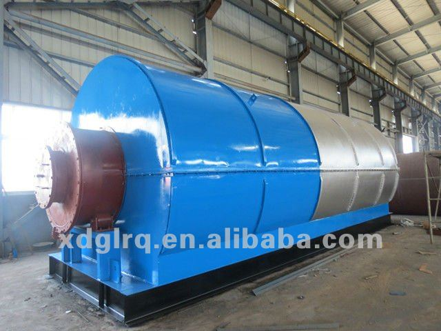 High Tyre Oil Yield !! 6/8/10/12 tons Waste Tyre & Plastic Pyrolysis Recycling Machine To Oil/Carbon Black