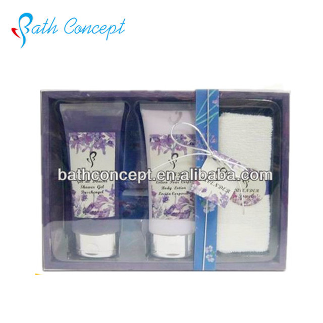 Wholesale OEM lavender dark night series bath gift set
