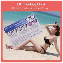 PVC Transparent UV gift card stand