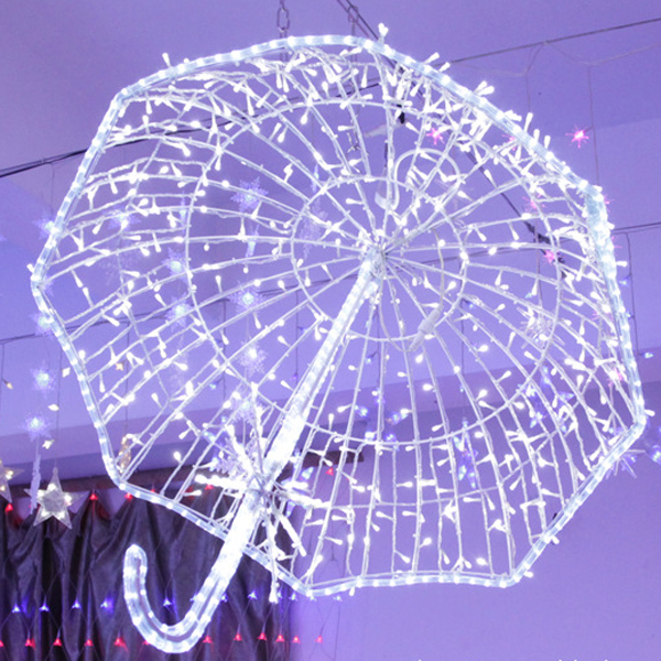 Outdoor 3D Umbrella Motif Light 80cm for Project