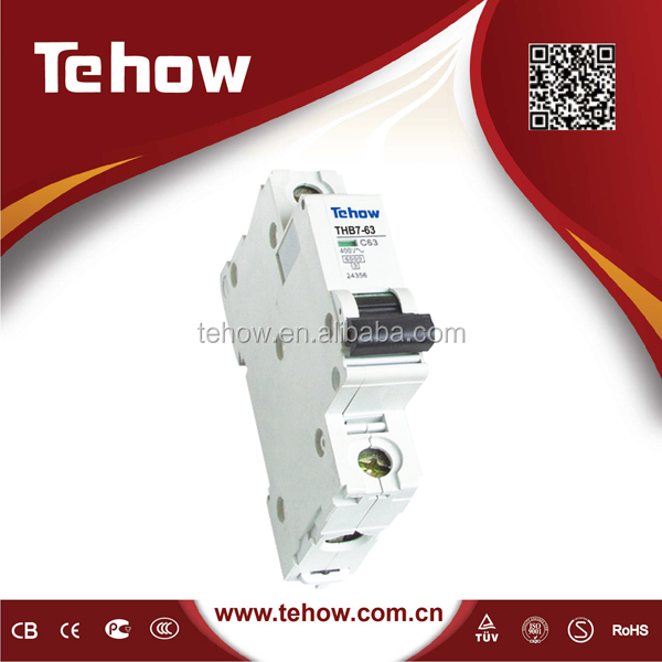 Tehow Plug-in type 10KA MCB 6A-63A MINI Circuit Breaker
