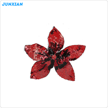 2017 Fashion cute clothing decoration red flower sew on patches
