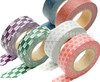 new design high quality colorful flower washy tape