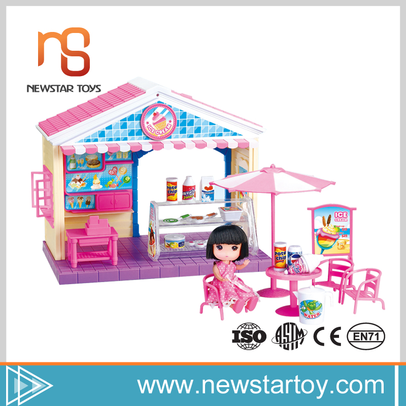 Newstartoy baby educational plastic ice cream toy doll house kits for sale