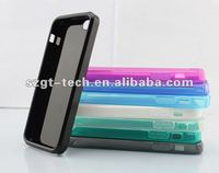 for iPhone5 TPU case jelly pattern,phone back cover case with TUP material