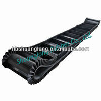 High abrasion resistant corrugated sidewall rubber conveyor belt price