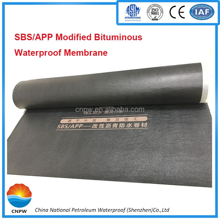 APP modified bituminous roofing waterproofing membrane for roof