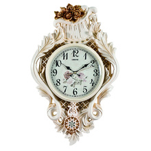 Decorative luxurious splended vintage retro wall hanging clock wholesale