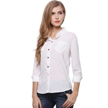 Latest Designs Elegant long Sleeve Women Blouse Fashion Spring sexy Blouse
