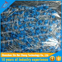 Supply Electronic Components 1000PF 400V Blue Ceramic Capacitor