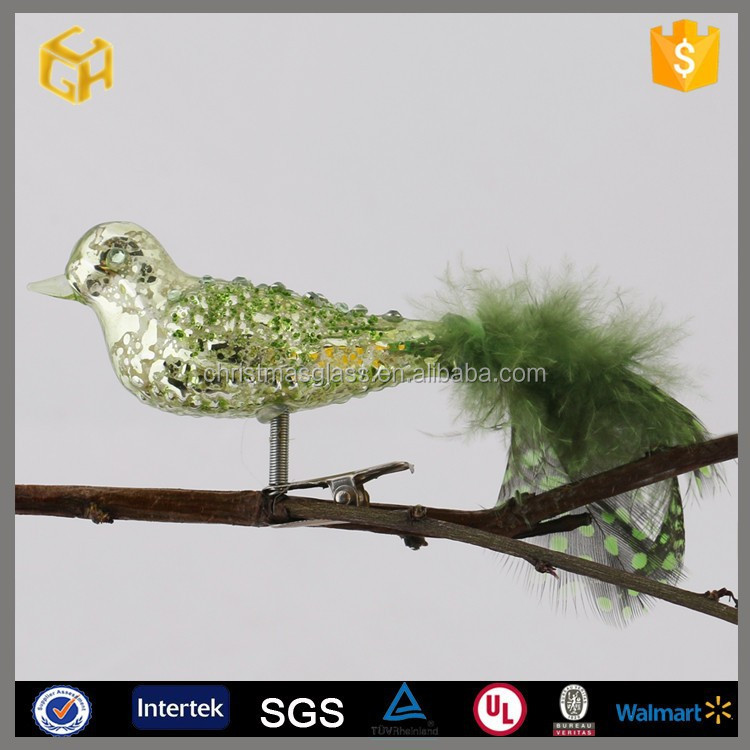 Hand blown murano glass bird for easter decoration