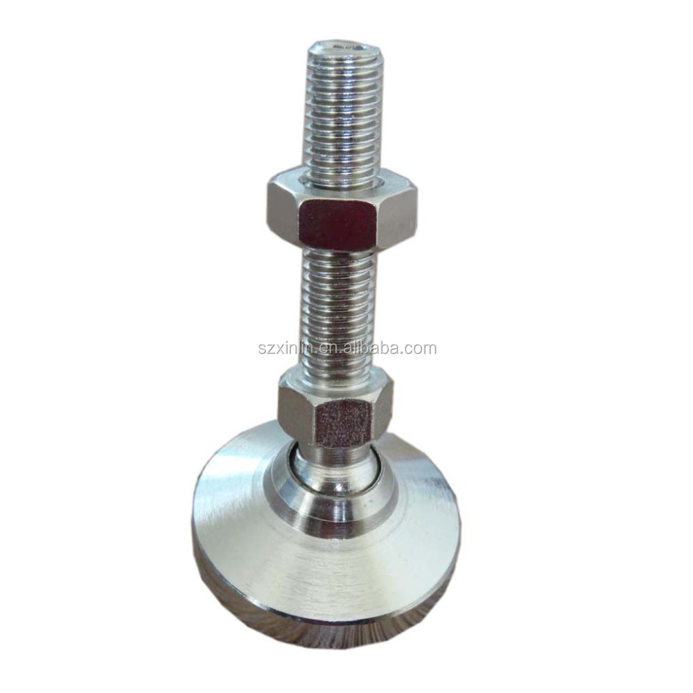 "Machine Leveling mounts/feet/pads, Stainless Steel, 1/2-13 x 2"" thread"