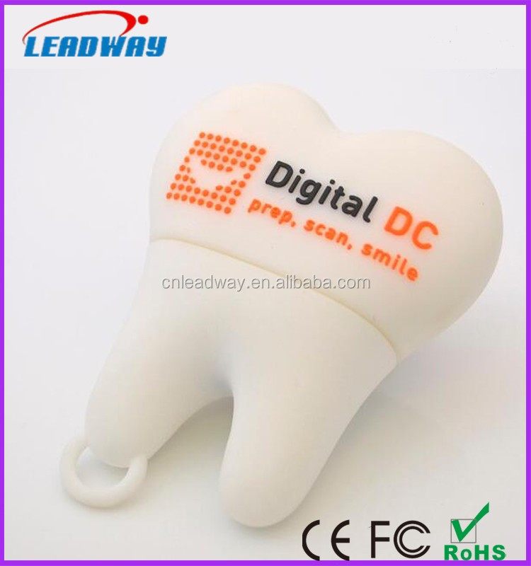 Novelty tooth usb dental doctor tooth shaped flash drives USB for dentist gift