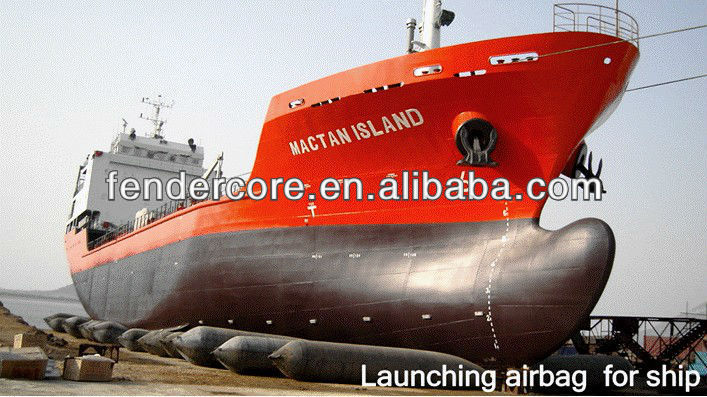 China ship rubber airbag for offshore salvage and wreck removal