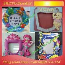 promotion hexagon winnie the pooh green pink 3d soft pvc photo frames