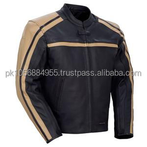 Coffee Brown Colour Fashion leather Jacket for men Wash Waxed short body Motorbike style leather jacket for men
