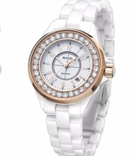 2017 fashion design ceramic bracelet women watches rose gold luxury ladies watches