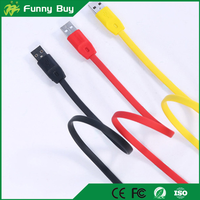 Fast USB 2.0 Charging Data cable colorfrul Flat Copper Cable