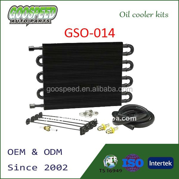radiator type oil cooler with piping kits