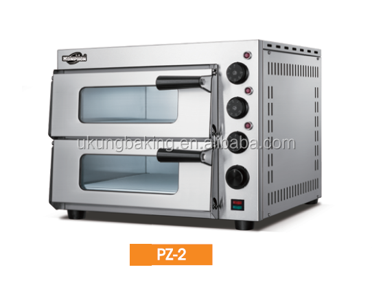 UKUNG PZ-2 Commercial Brick Pizza Oven With Time Alarm