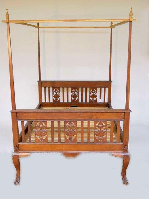Cama colonial brit nico estilo art deco camas - Camas estilo colonial ...