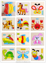 Hot sale kid cute animal puzzle child wooden puzzle educational toy
