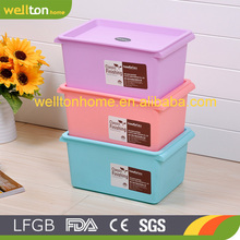 Multipurpose Transparent Large Capacity Home Use Plastic Storage Container with Wheels