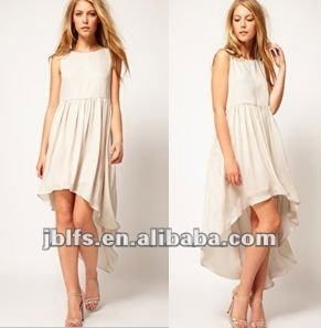 Dipped Hem Maxi Dress for Ladies