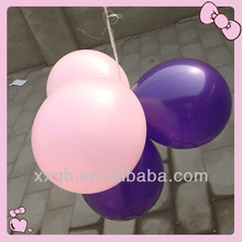 china top quality latex wedding decoration purple and white balloon