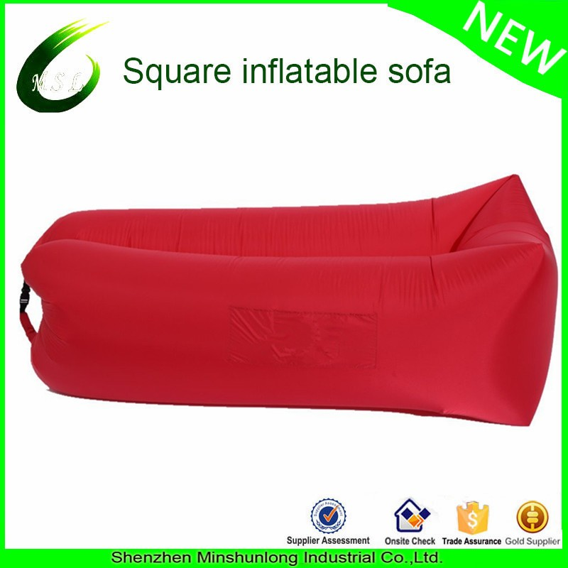 Outdoor Travelling Camping Hiking Pool Beach Parties Nylon Lazy Floor Chair Inflatable Lounger Air Bag