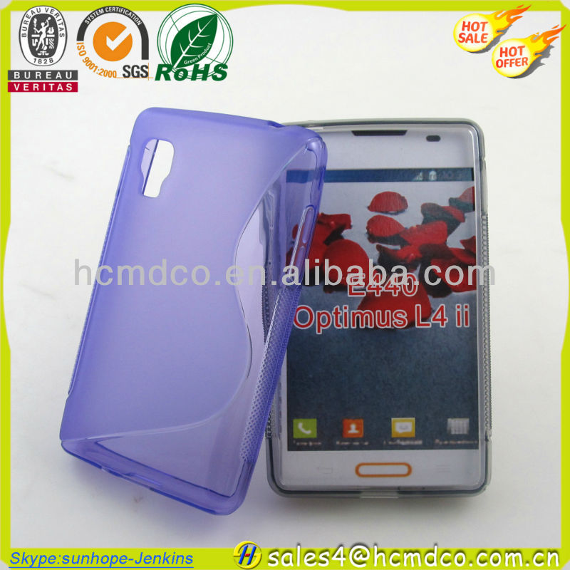 New Glossy +Matte Crystal TPU Case Cover For LG E440 Optimus L4