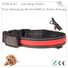 New arrival solar energy and with USB charging collar,solar dog collar,led collar