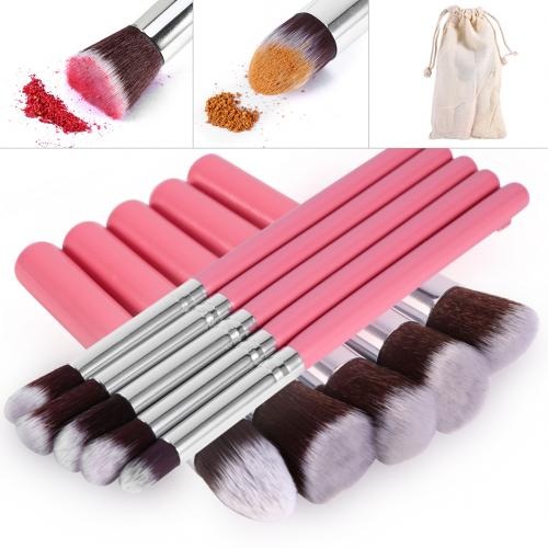 4 colors Professional 10Pcs Facial Cosmetic Face Powder Foundation Makeup Brush for Wholesale