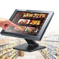 hot sale 15'' touch monitor with stable metal stand,side buttom