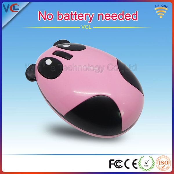 VMW-91 2.4g wireless 3d optical China style panda shape easy mouse for PC