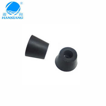 High quality black cone anti-slip rubber feet for machine with OEM
