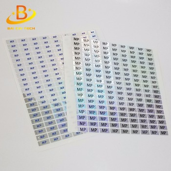 Cheap custom made 3d security transparent laser hologram sticker label, anti-counterfeit sticker