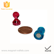 Magnetic Push Pins, Neodymium Map/Fridge Magnets for Whiteboard, Refrigerator, and Office