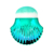 Beauty Need Multipurpose Seashell Green Bling Refillable Makeup Brush