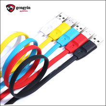 New Style TPE mobile phone security flat usb cable